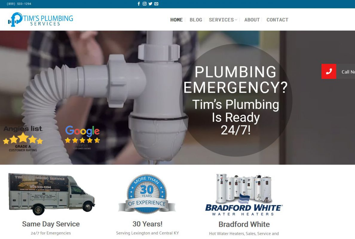Small Business, Plumbing Website