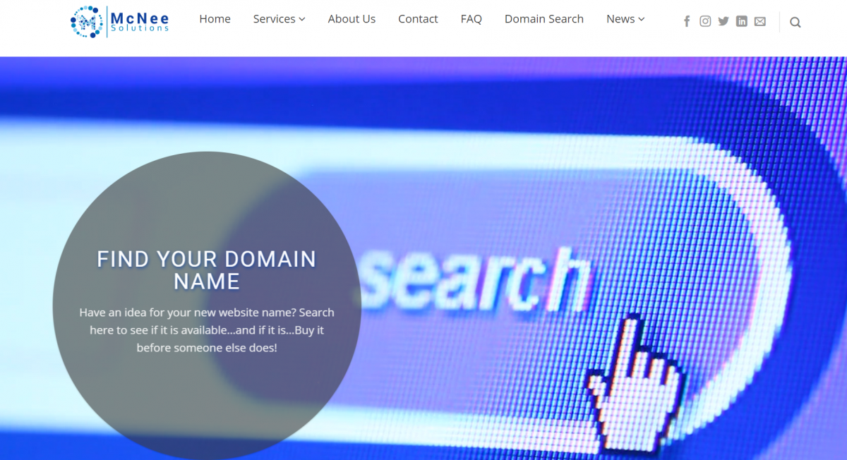 Get your Domain name here